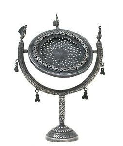 Mirror Stand Silver Antique Vintage Collectible Home Decor Handmade Us34ah