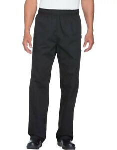 Black Dickies Unisex Elastic Waist Cargo Pocket Chef Pants X small