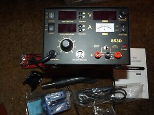 3 In 1 853d Soldering Station Hot Air Rework Station Dc Power Supply 800w