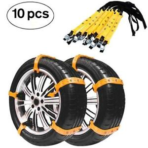 Car Snow Chains Emergency Tire Chains Adjustable Anti skid Tire Cables Winter Dr