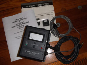 Resistivity Monitor With Cell 0 20 Megohm Myron L Ultrapure Deionized Di Meter