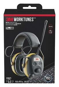 3m Worktunes Hearing Protection Earmuff With Am fm Radio Yellow And Black