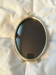 Vintage Metal Oval Domed Glass Picture Frame For 3 1 2 X 5 Photos Pictures
