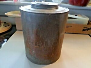 Vintage Horlick S Embossed Tin Malted Milk Container Can
