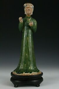 Chinese Tang Sancai Terracotta Court Lady