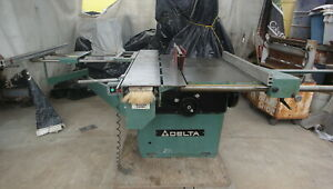 Delta Re35 Sliding Table Table Saw Panel Scoring 14 Capacity See Video Of Mach