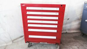 V J Lista 5 Drawer Tool Box Roll Away Parts Cabinet Tooling Storage Snap on
