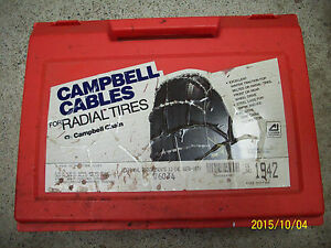 Campbell Traction Cables 1942 Snow Rain Sleet Ice Chains Tires 14 15