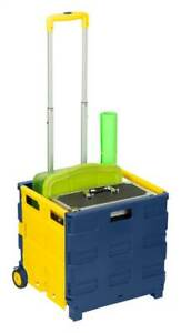 Folding Utility Cart In Blue And Yellow id 3517232