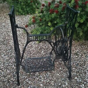 Antique Singer Cast Iron Treadle Sewing Machine Cabinet Base