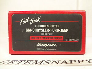 Snap On 2000 Domestic Troubleshooter Cartridge For Mtg Mt2500 Scanner Nice