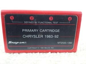 Snap On Scanner Mt2500 1392 Chrysler 1983 1992 Primary Cartridge