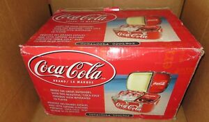 Vintage Coca Cola CoolBox with Integrated CD Player Great for Outdoors Brand New