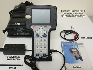 Emerson Hart 375 Field Communicator With Fieldbus And Accessories