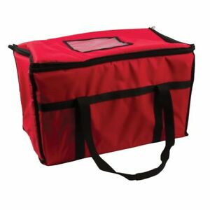 San Jamar Fc2212 rd Red Large Insulated Food And Pizza Carrier