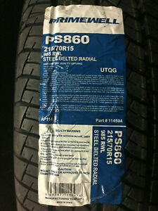 4 New 215 70 15 Primewell Sport Ps860 White Letter Tires