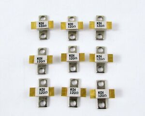 Lot Of 9 Kdi Aerotech Ppr 820 75 3 Power Resistor Conduction Cooled 120 Ohm