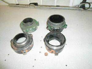 Threaded Coupling Adapter Cap Fire Fighting Equipment Lot Of 4
