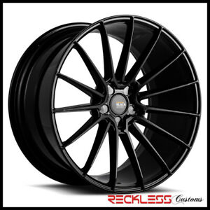 Savini 22 Bm16 Gloss Black Concave Wheel Rims Fits Bmw E63 E64 645 650