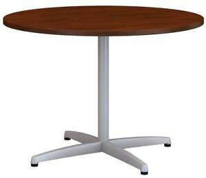 Round Conference Table With Metal X Base id 3759146