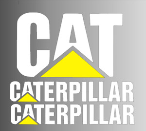 3 Caterpillar Cat Stickers Kit Vinyl Decals Weatherproof Diesel Truck Window