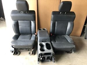 Ford F150 Black Leather Front Bucket Seats W Center Console