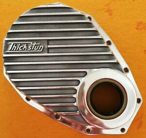 Thickstun Chev 6 Finned Aluminum Front Timing Cover 235 261 Inline Hot Rod