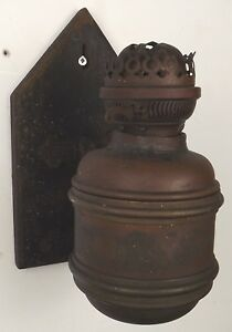 Antique Victorian Wall Bracket Oil Lamp Duplex Burner Aesthetic Style Needs Tlc