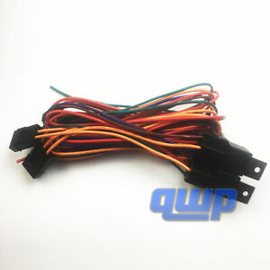 New For 16765 Electric Fan Dual Relay Wire Harness Kit 40 60 Amp Heavy Duty