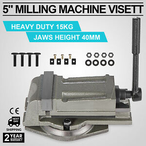 5 125mm Precision Swivel Rotating Base Bench Vice Horizontal Solid Milling