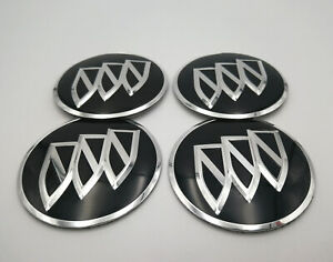 4pcs 56mm Chrome Wheels Center Cap Emblem Badge Alloy Decal Sticker For Buick