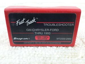 Snap On Tools Mt2500 2993 Cartridge Fast Track Troubleshooter Gm Chrysler Ford