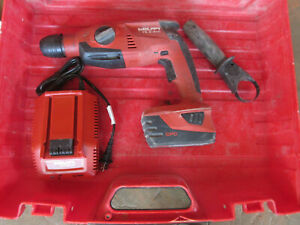 Hilti Te 2 a18 21 6v Li ion 1 2 Cordless Rotary Hammer Drill W Battery charger