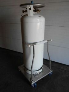 Used Union Carbide Liquid Nitrogen Supply Tank With 22 Day Test Results