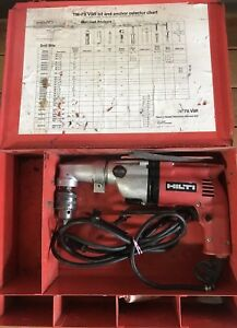 Hilti Tm 7s Vsr With Right Angle Adapter And Metal Case Hammer Drill Mason Concr