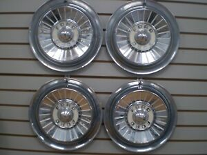 1957 Ford Fairlane Skyliner Ranchero Wheelcover Wheel Covers Hubcaps Oem Set 57