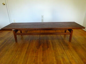 Mid Century Jens Risom 6 Ft Floating Top Coffee Table