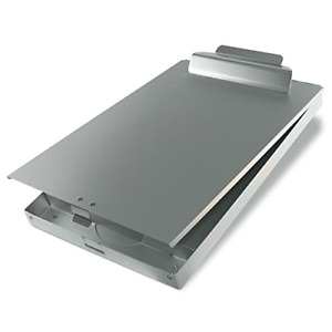 Clipboard With Storage Case Locking Box Aluminum Chrome Clip Boards Vintage