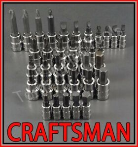 Craftsman 35pc Sae Metric Hex Key Torx Screwdriver Bit Ratchet Socket Set