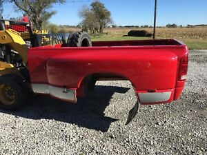 03 08 Red Dodge Ram Dually Long Bed Box Tailgate Rust Free 3500 Drw Damaged
