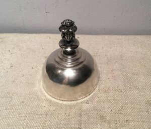 Kerr Antique Art Nouveau Sterling Silver Figural Lady Dinner Bell
