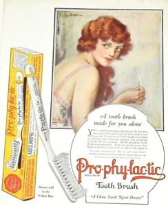 1924 Prophylactic Dental Hygiene Tooth Brush Teeth Health Dentist