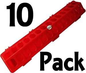 10 Pack Of 20 Red Rite Farm Products Flip Top Chicken Feeder For Poultry Chick