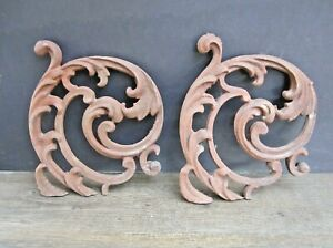 Vintage Ornamental Cast Iron Pieces For Parts Art Shelf Brackets Etc