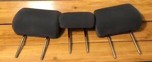 Toyota Tacoma 05 06 07 08 09 10 11 Front Bench Seat Head Rest Set Grey Nice Oem