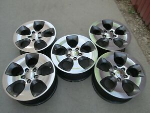 18 Jeep Wrangler Rubicon Set 5 Sahara Charcole Oem Factory Wheels Rims