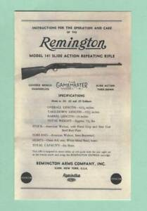 Remington Model 141 Factory Owners Instructions Manual Reproduction