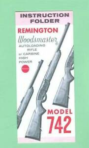 Remington Model 742 1960 s Factory Owners Instructions Manual Reproduction