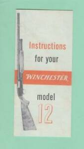 Winchester Model 12 Owners Manual 1960 70s Reproduction