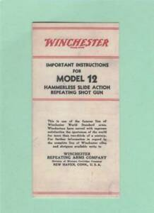 Winchester Model 12 Owners Manual 40 50 s Reproduction